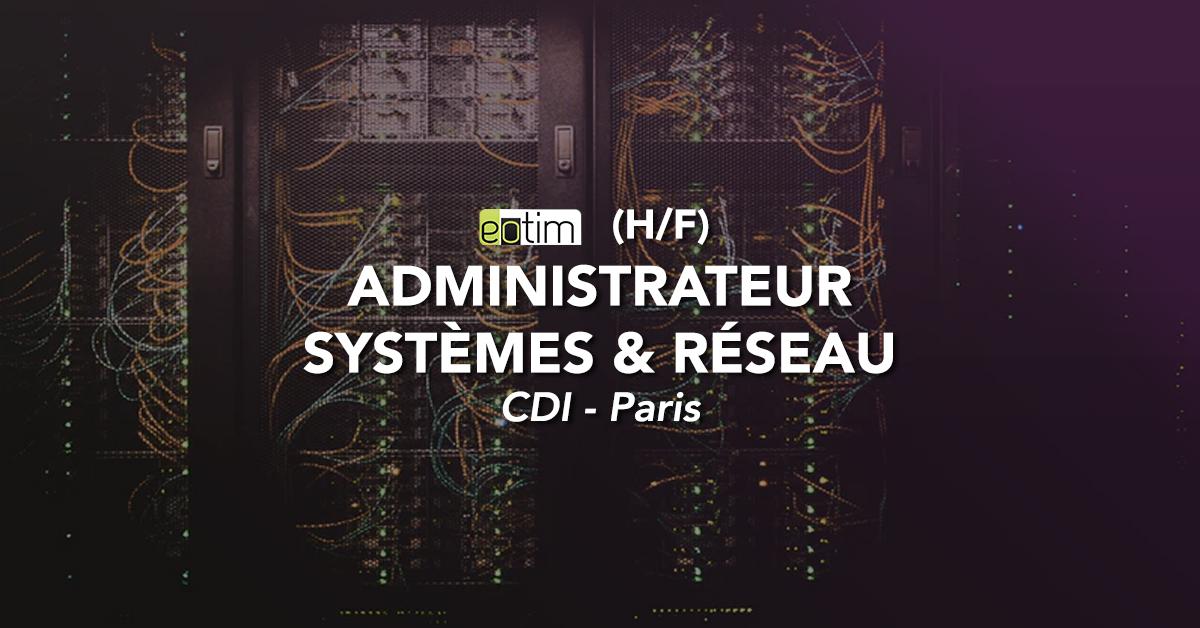 Administrateur système et réseau Linux H/F