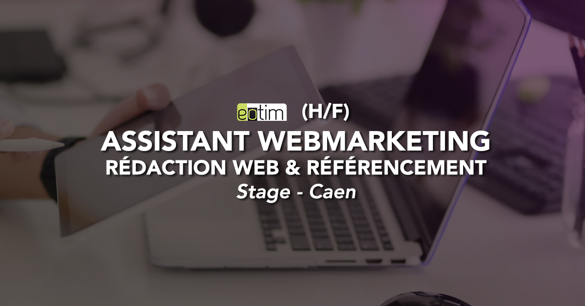 Assistant webmarketing - Rédaction web & référencement H/F