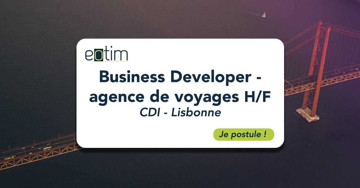 Business Developer - agence de voyage H/F