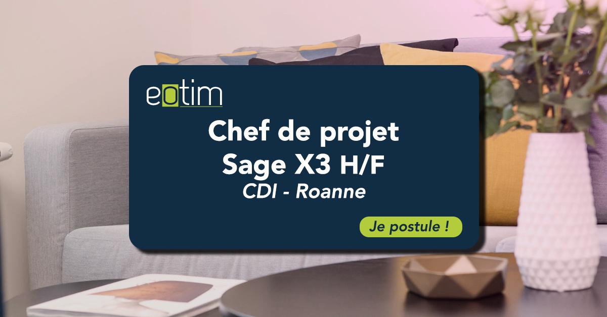 Chef de Projet Sage X3 H/F