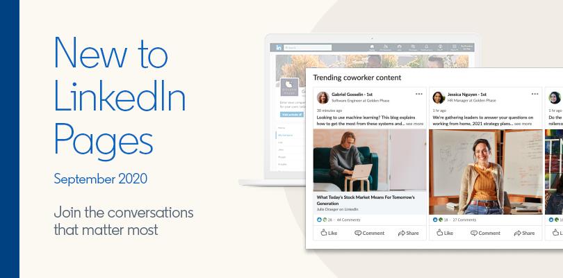 Comment profiter des nouveautés 2020 de LinkedIn pour faire décoller votre page entreprise ?