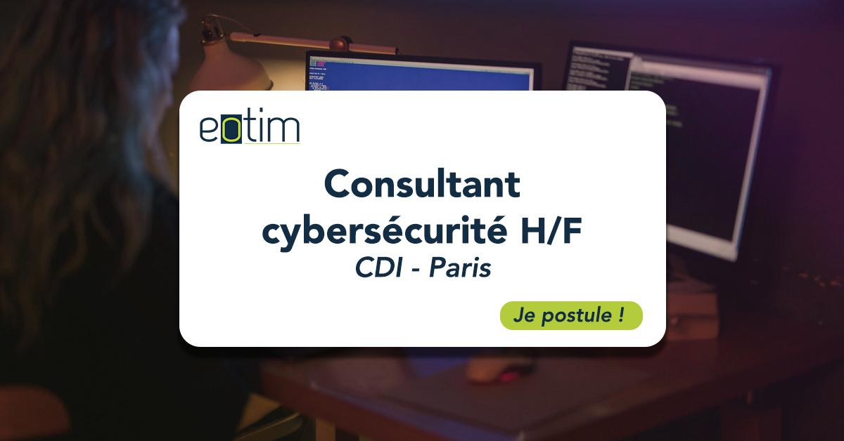 Consultant cybersécurité H/F