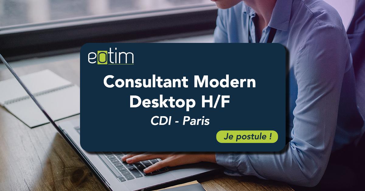 Consultant Modern Desktop H/F