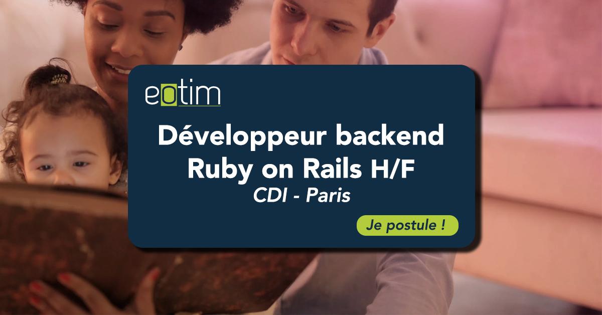 Développeur Back-End Ruby on Rails H/F
