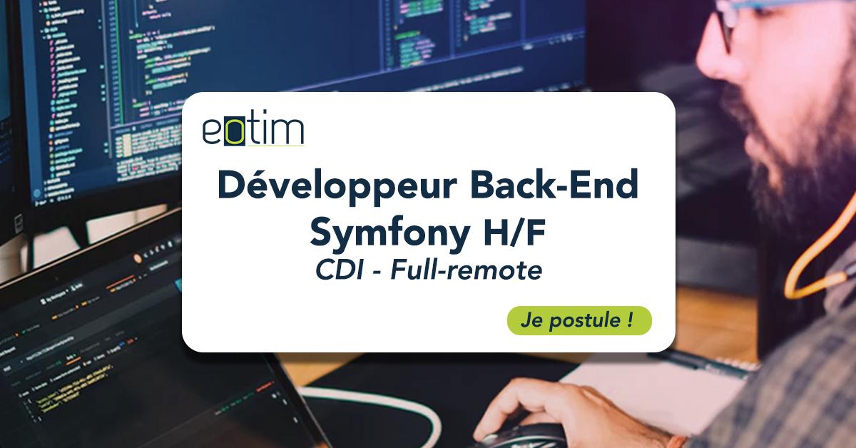 Développeur Back-End Symfony H/F