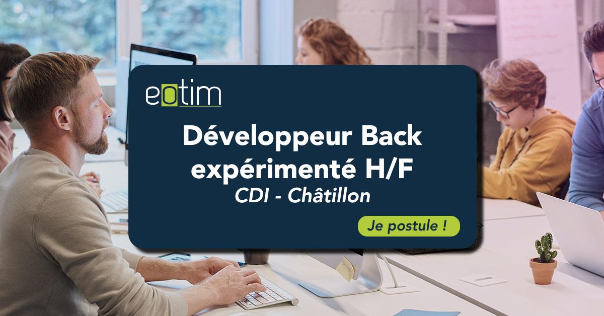 Développeur Back expérimenté H/F