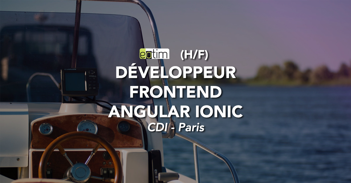 Développeur Frontend Angular Ionic H/F