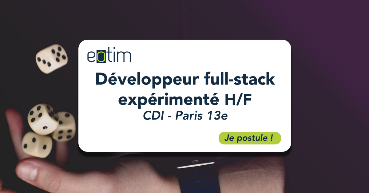 Développeur full-stack expérimenté H/F