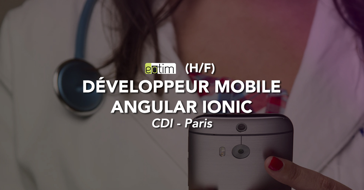 Développeur Mobile Angular Ionic H/F