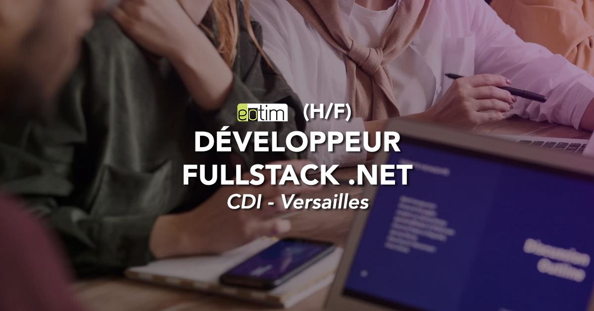 Développeur .NET fullstack H/F