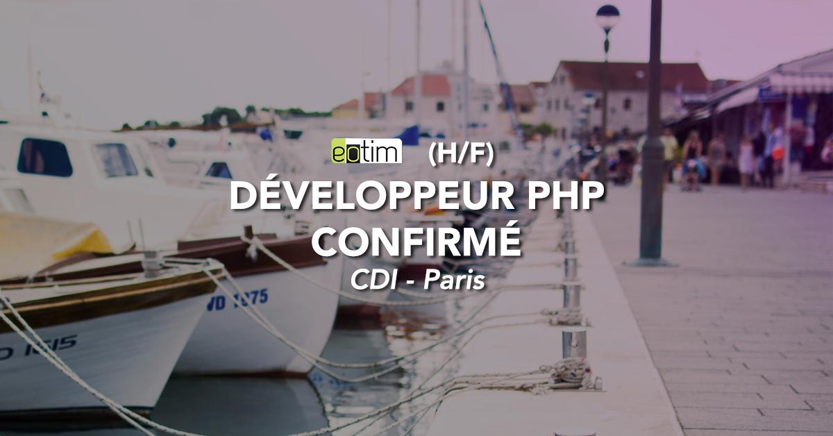 Développeur PHP confirmé H/F