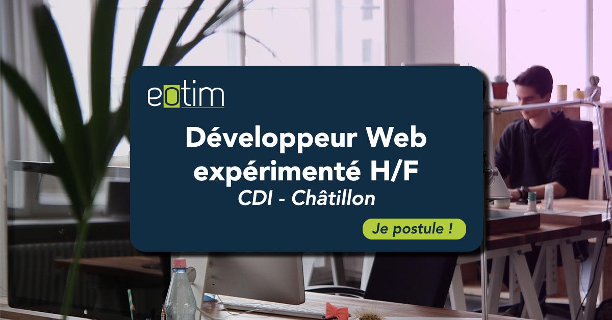 Développeur Web expérimenté H/F