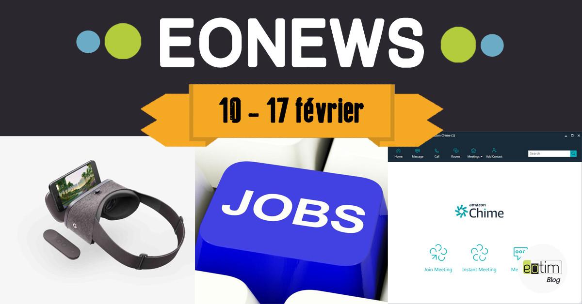 Eonews : l'essentiel de la semaine (10 - 17 février)
