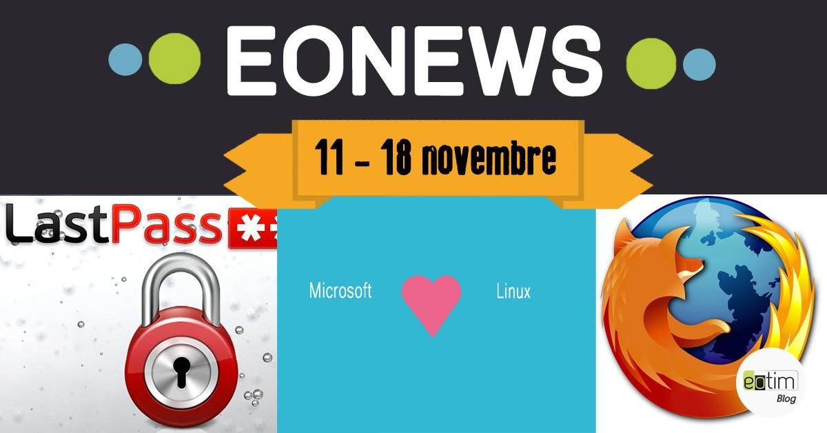 Eonews : l'essentiel de la semaine (11-18 novembre)