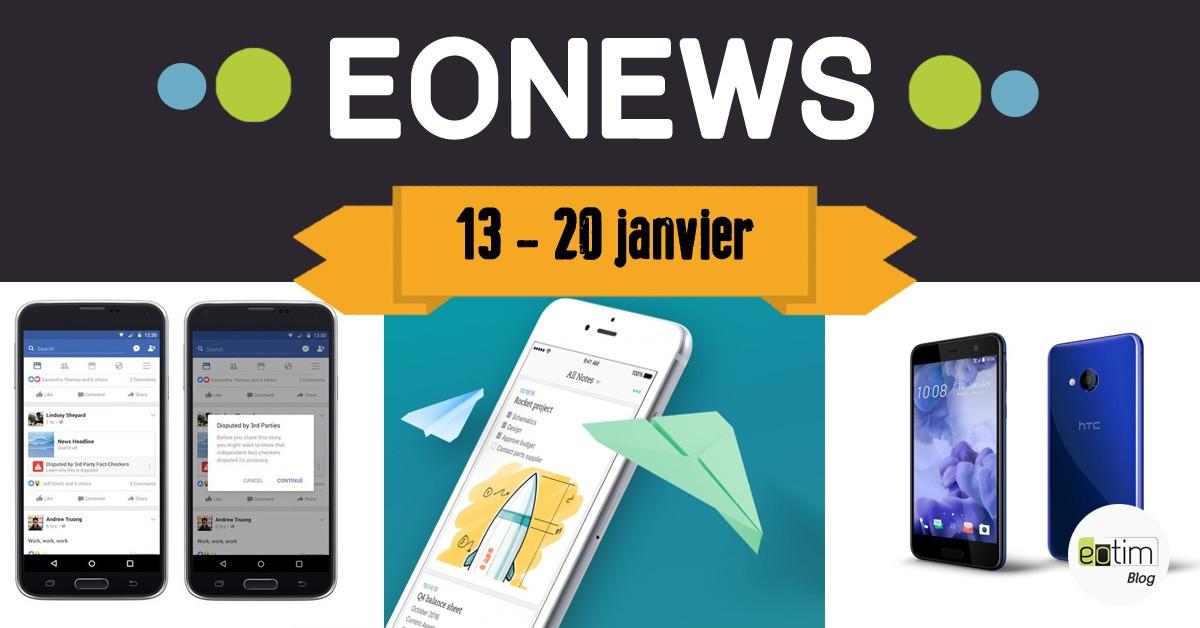 Eonews : l'essentiel de la semaine (13 - 20 janvier)