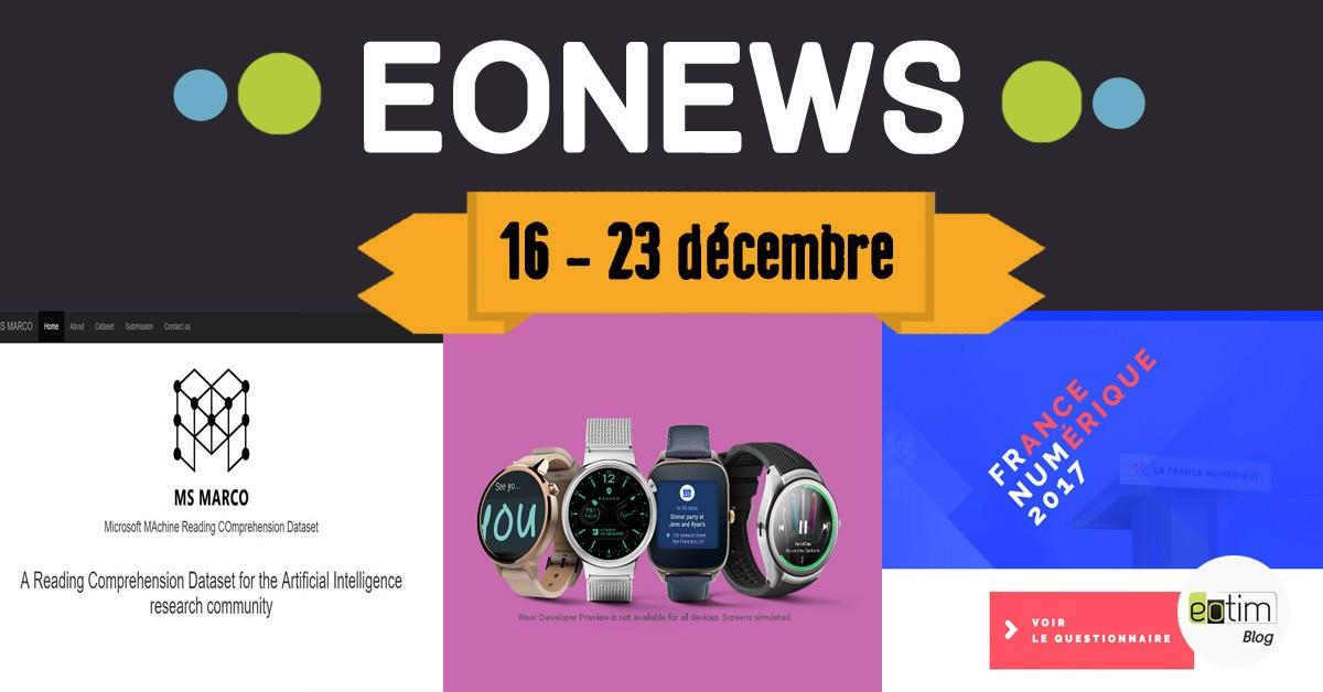 Eonews : l'essentiel de la semaine (16 - 23 décembre)
