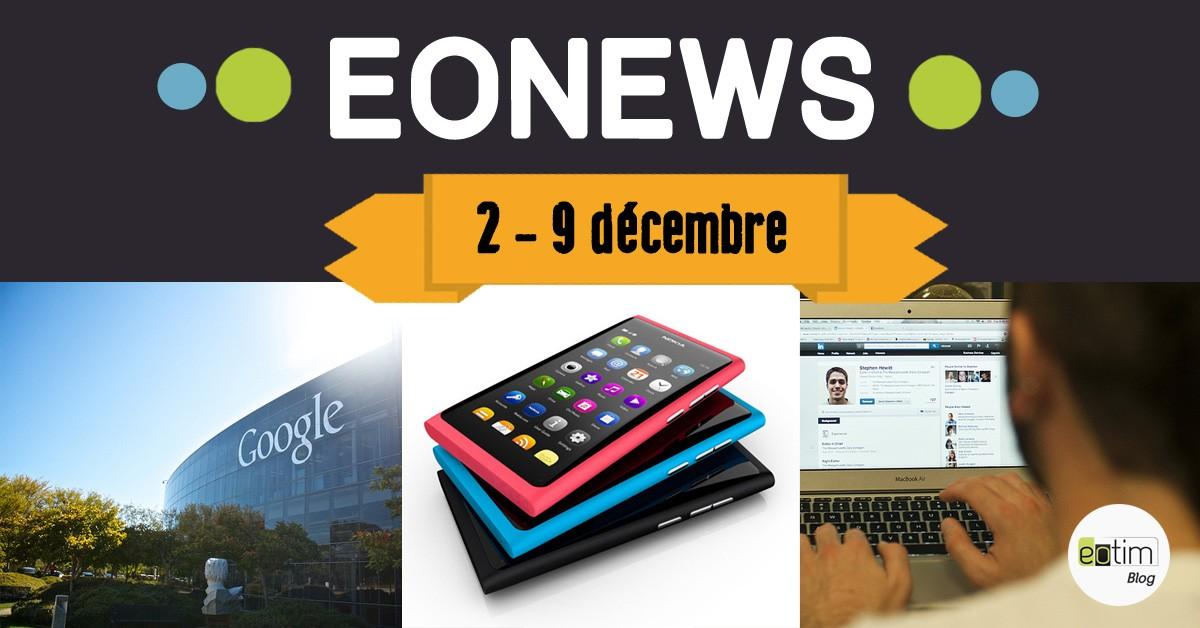 Eonews : l'essentiel de la semaine (2 - 9 décembre)