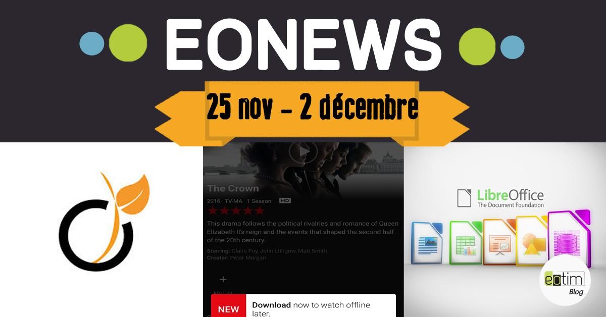 Eonews : l'essentiel de la semaine (25 nov - 2 décembre)