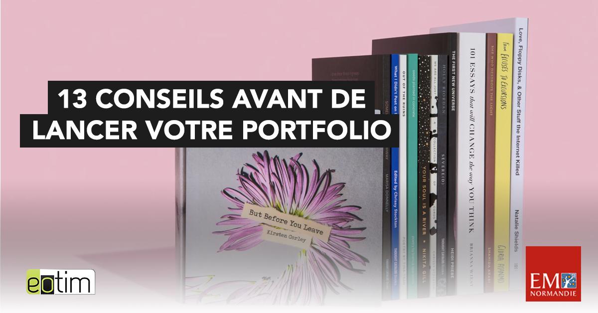 Eotips #63 : 13 conseils avant de lancer votre portfolio
