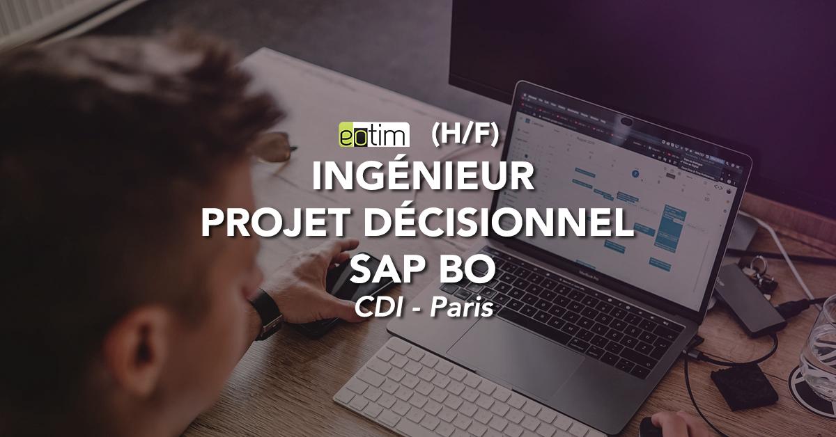 Ingénieur projet décisionnel SAP BO H/F