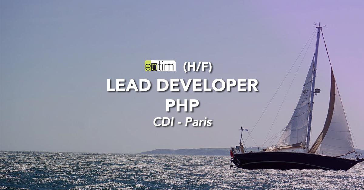 Lead Développeur PHP H/F