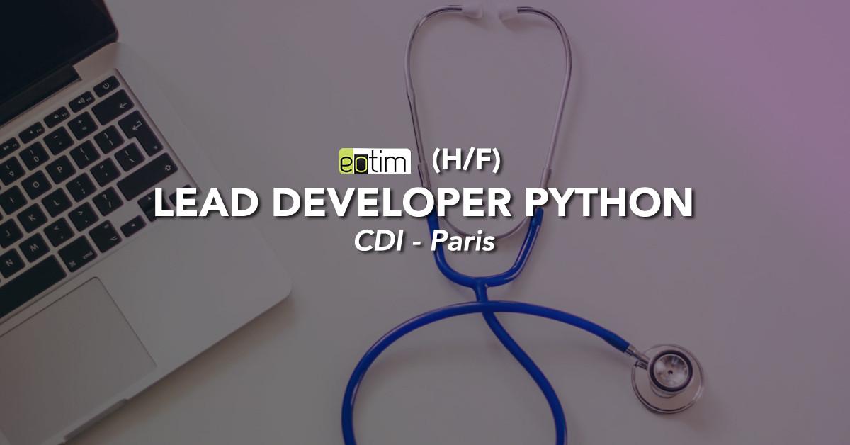 Lead Developer Python H/F