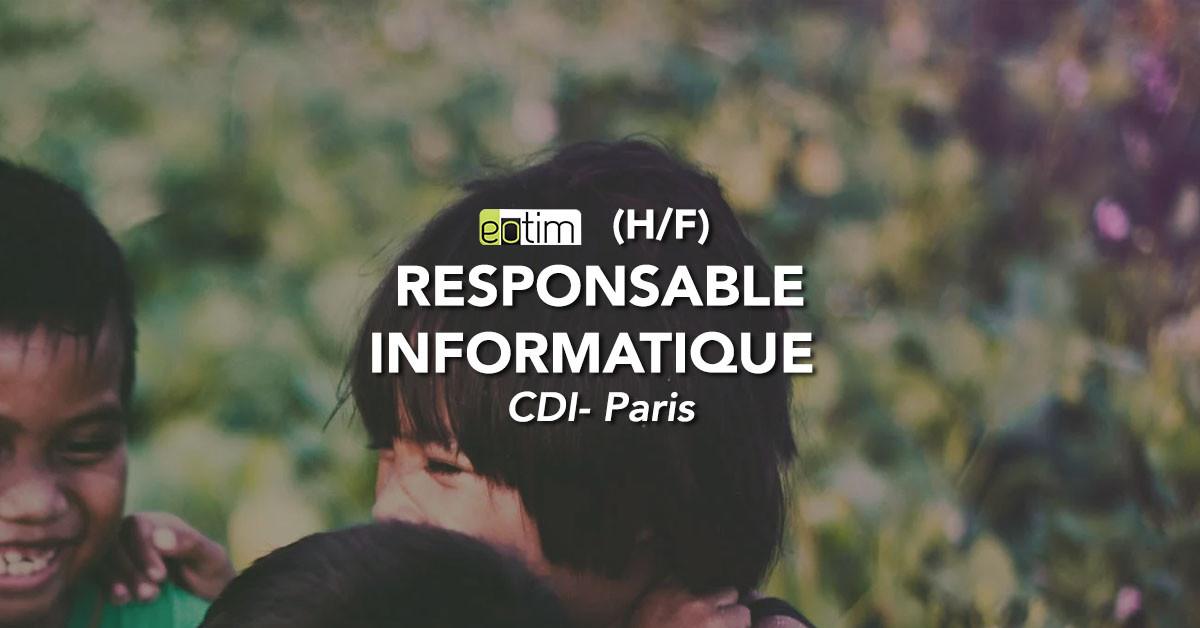 Responsable Informatique (H/F)