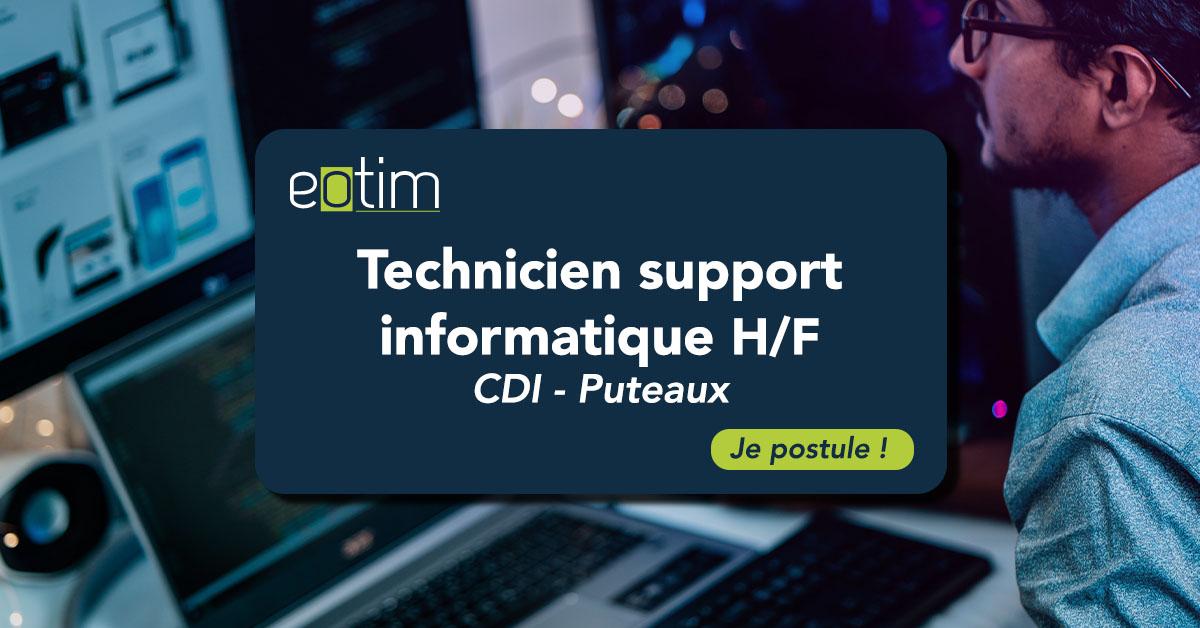 Technicien support informatique H/F
