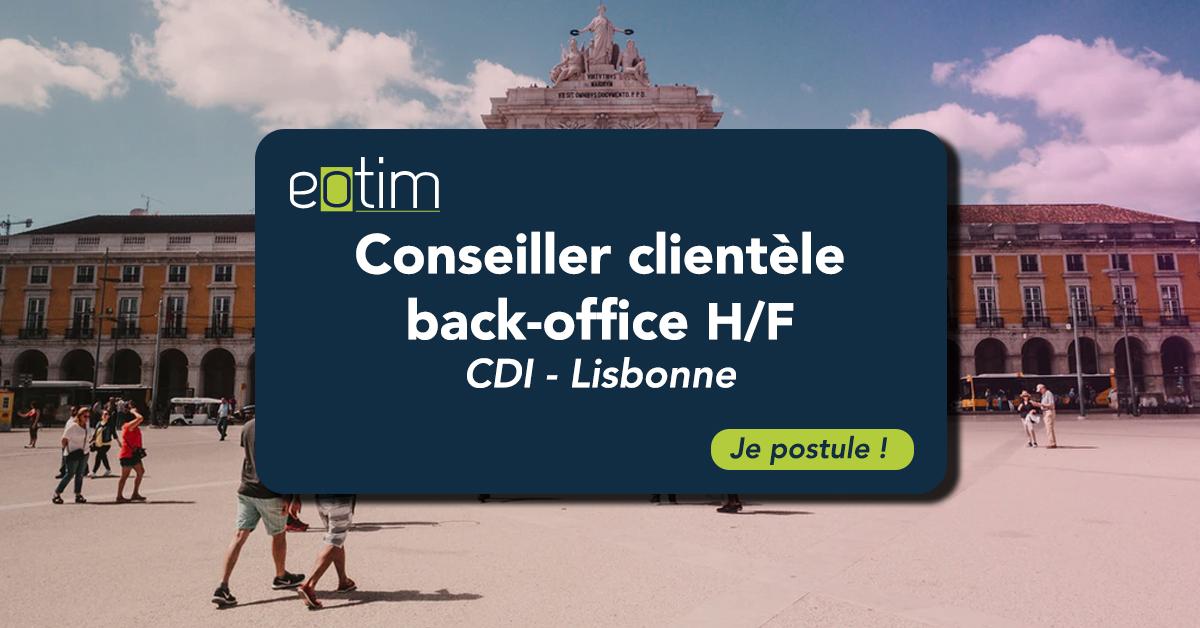 Conseiller clientèle back office H/F